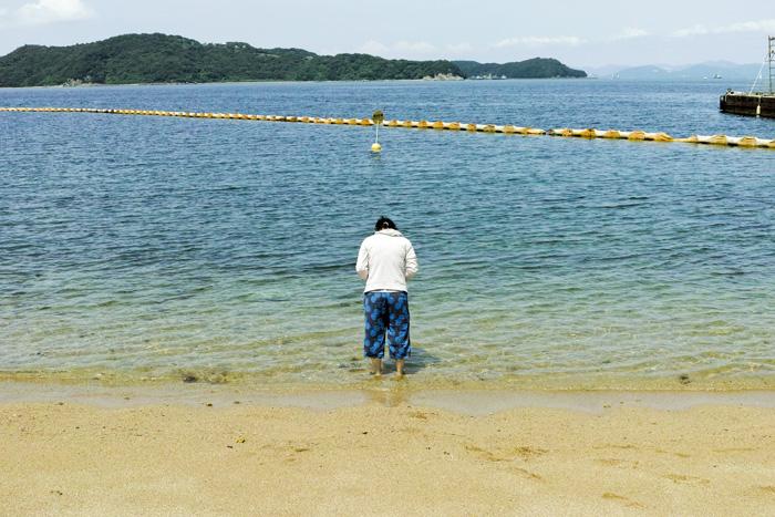 瀬戸内海に浮かぶ小さな男鹿島