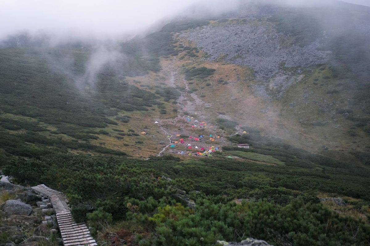 雲の平キャンプ場